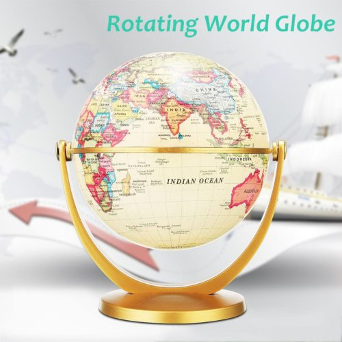 Rotating Globe Retro World Map