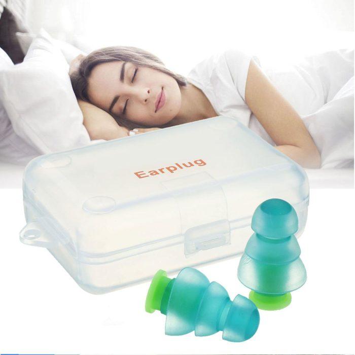 Sleep Earplugs 1 Pair Silicone Plugs