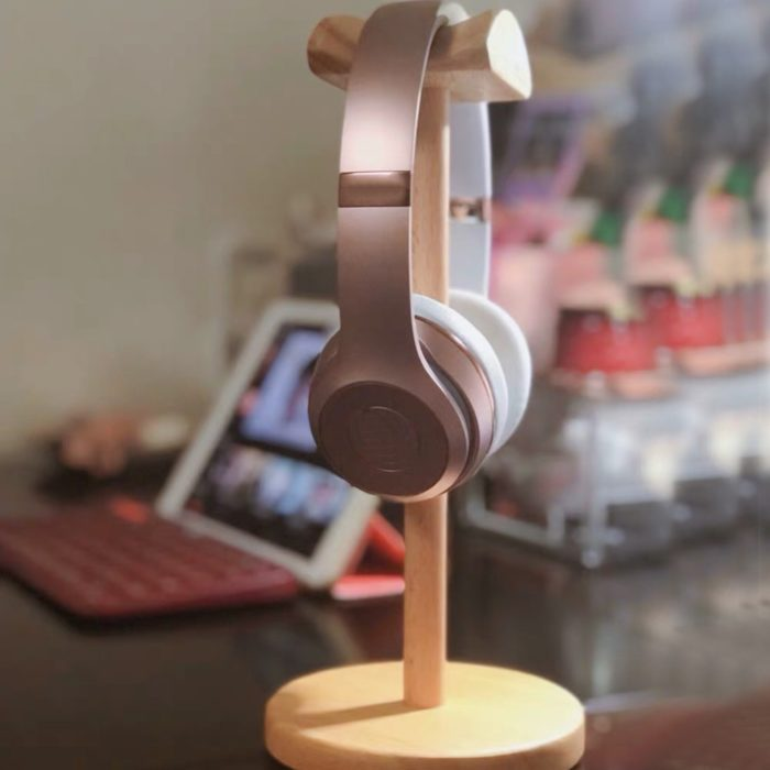 Wooden Headphone Stand Headset Holder