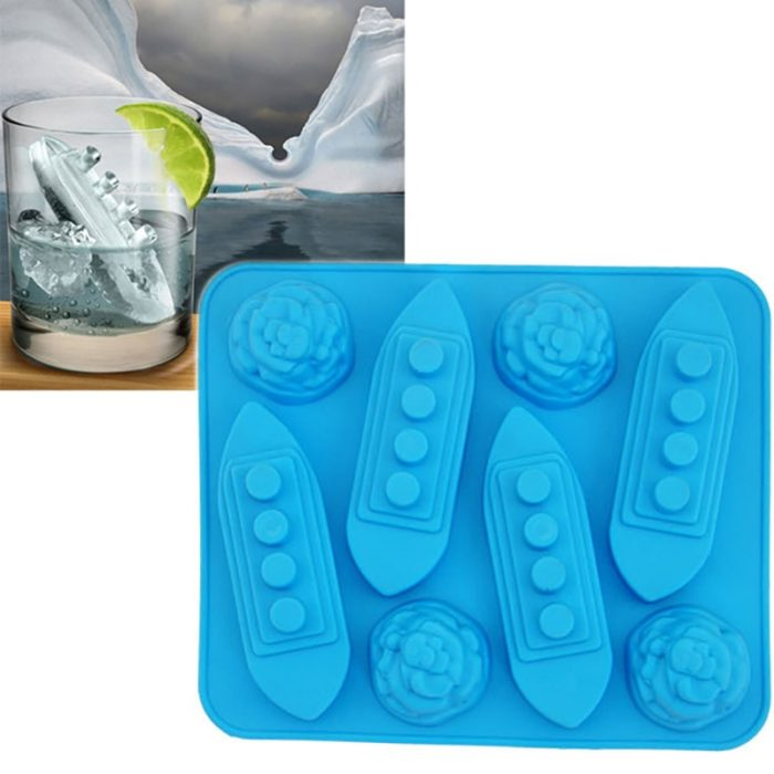 Silicone Ice Mold Titanic Ship Design