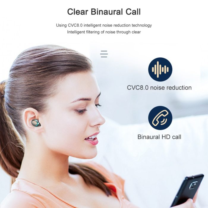 Bluetooth Earphone With Mic Wireless Device