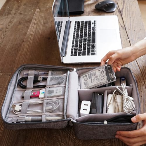 Electronics Travel Organizer Storage Bag