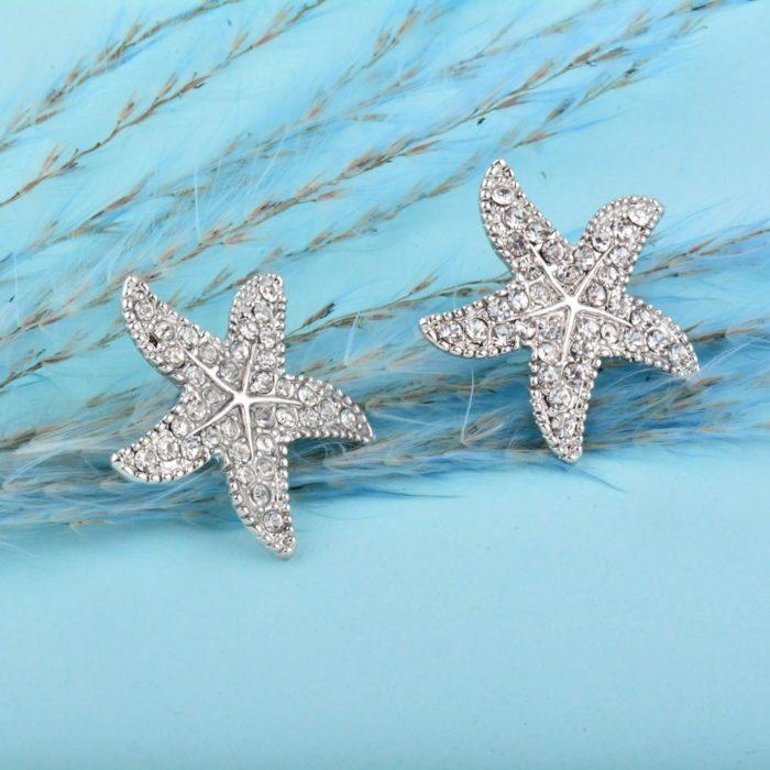 Starfish Earrings Fashionable Stud Earrings