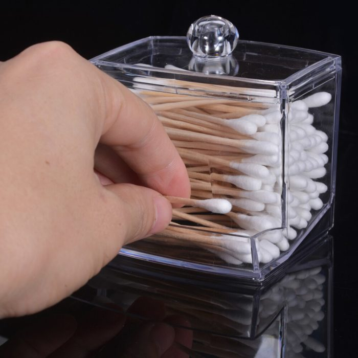 Cotton Swab Holder Acrylic Container