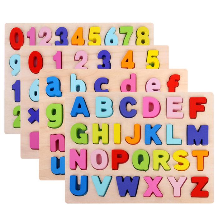 Alphabet Puzzle Kids Wooden Toys