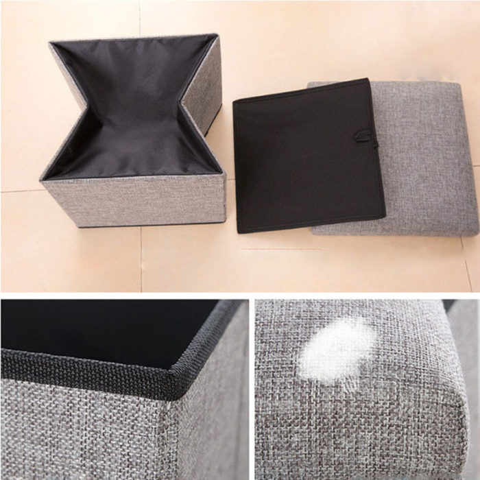 Ottoman Storage Box Folding Stool
