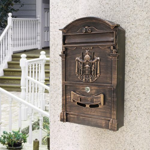Wall Mounted Letter Box Retro Mailbox