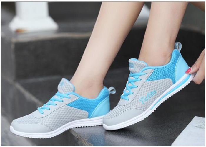Ladies Sneakers Breathable Footwear