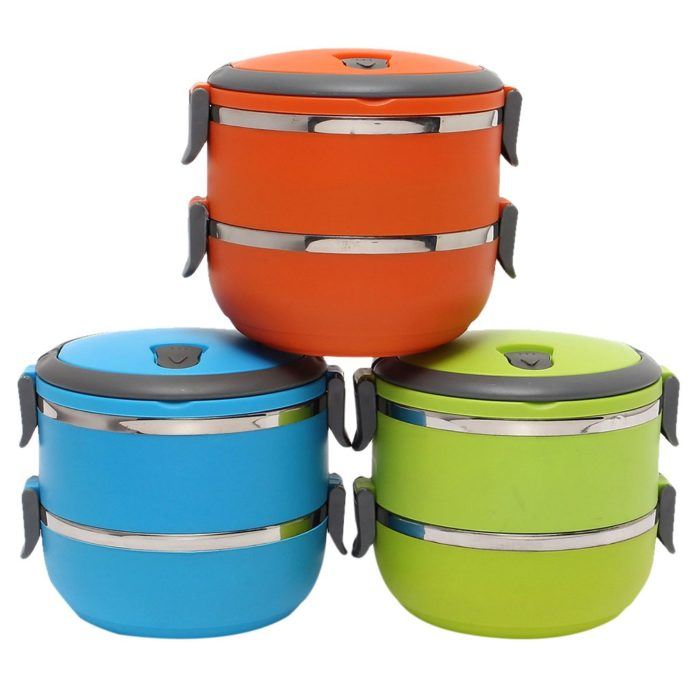 Insulated Lunch Container Double Layer
