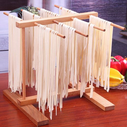 Pasta Drying Rack Wooden Stand