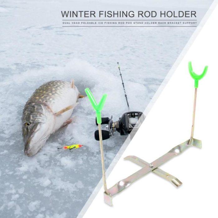 Ice Fishing Rod Holder Foldable Support