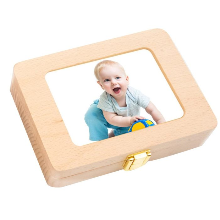 Tooth Box Wooden Photo Frame