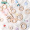 Wooden Teething Ring DIY Teether 20pcs