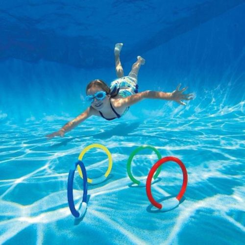 Diving Rings Swimming Pool Toy 4pcs