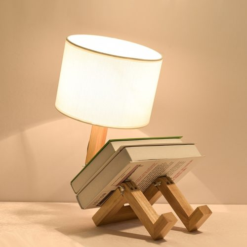 Nightstand Lamp Creative Wood Design
