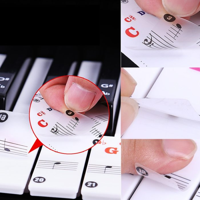 Piano Stickers Training Keyboards Notes