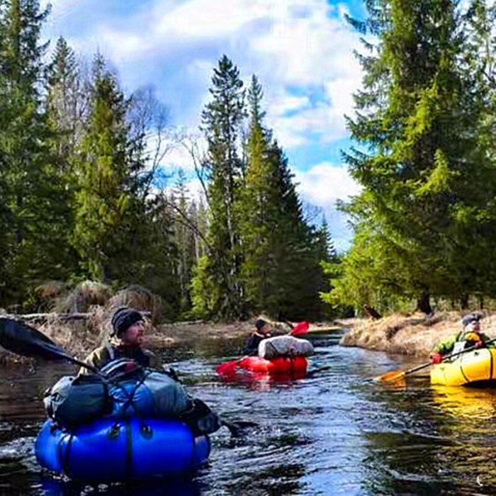 Inflatable Canoe Portable Raft