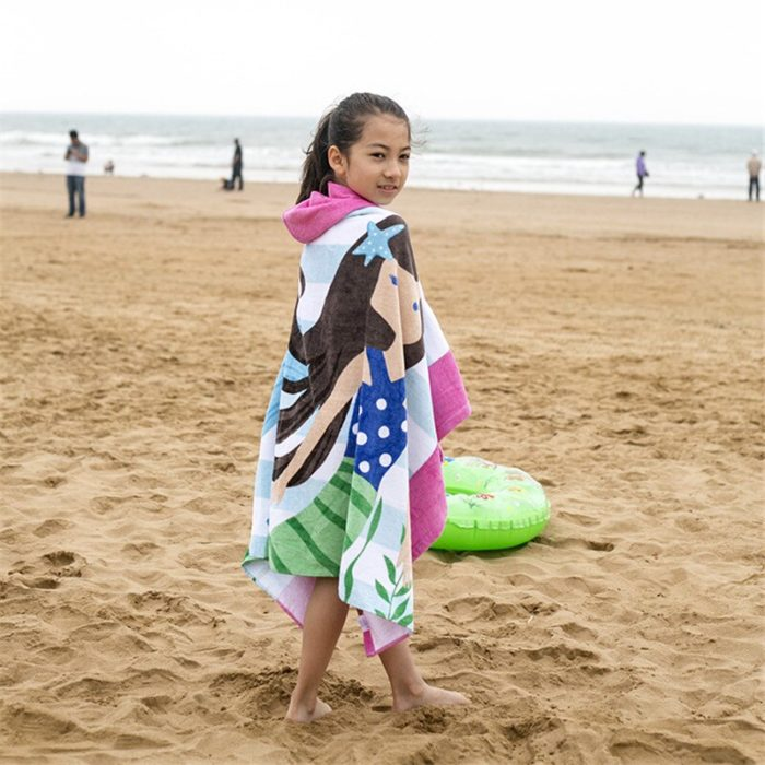 Kid's Beach Towel with Hood