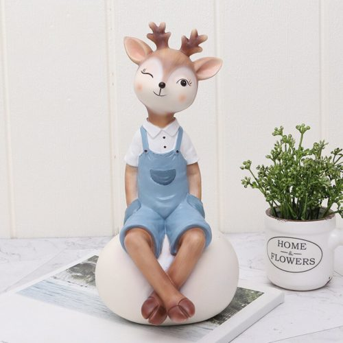 Deer Figurine Animal Home Decoration