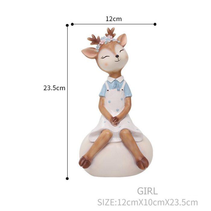 Deer Figurine Animal Home Decoration