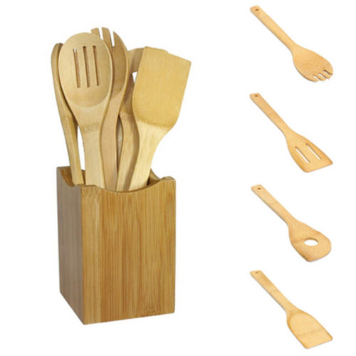 Wooden Cooking Utensils Set (6Pcs)