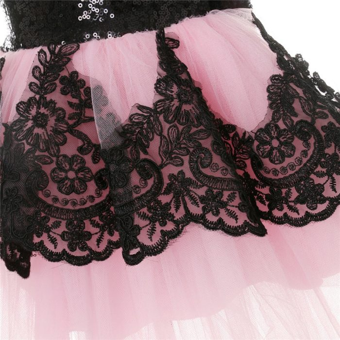 Girls Sequin Dress Party Gown