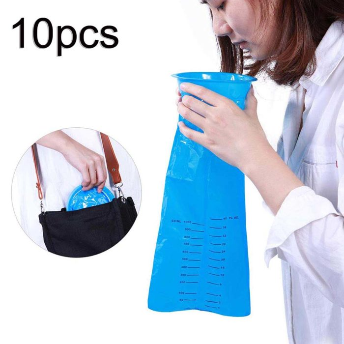 Sick Bags 10PC Disposable Bags