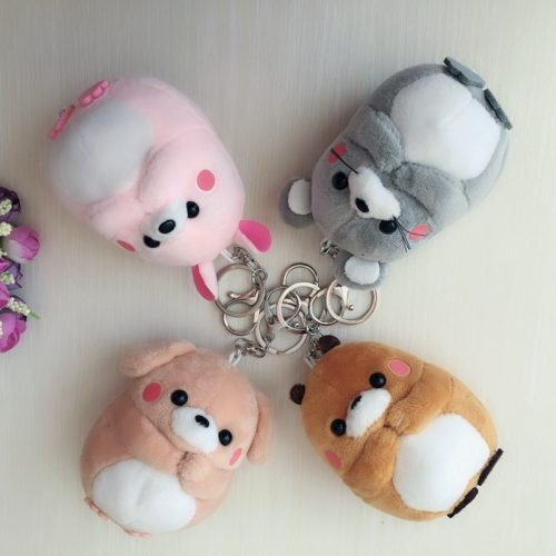 Animal Keychain Plush Charm