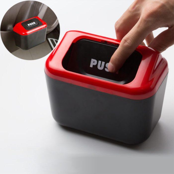 Car Bin Portable Clip-on Trash Can