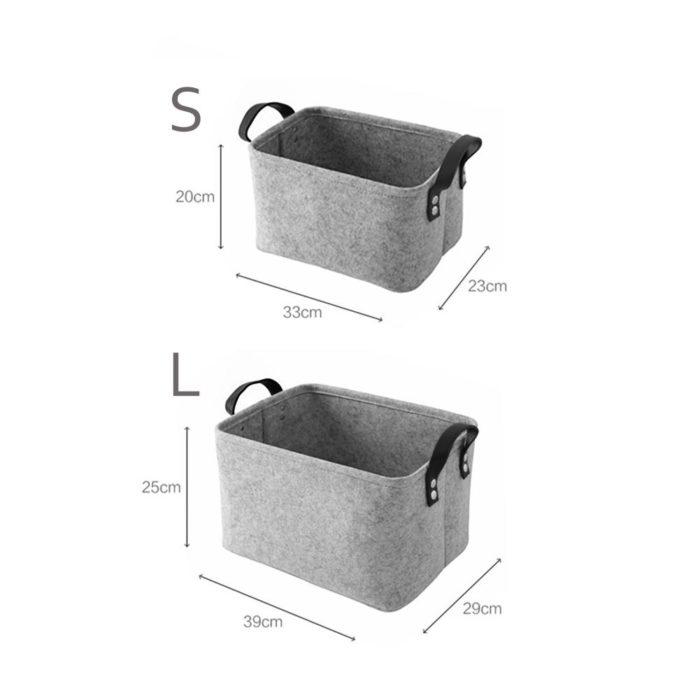 Toy Storage Basket Felt Box