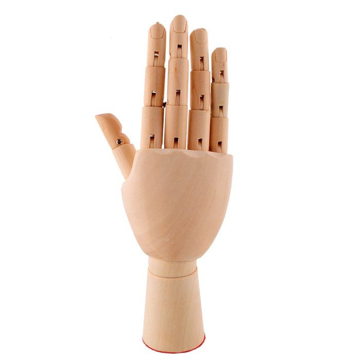 Wooden Hand Right Drawing Model