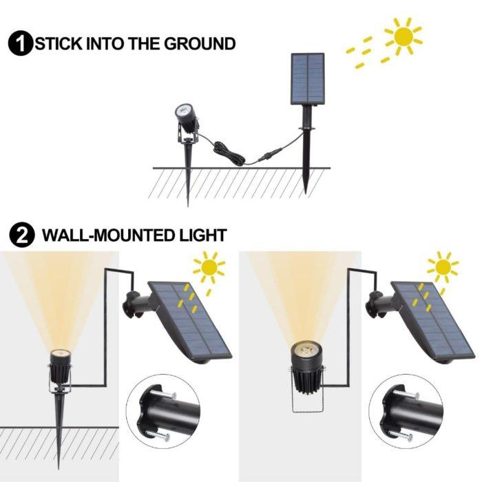 Outdoor Solar Spot Light LED Light`