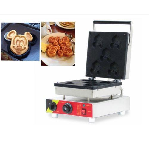 Mickey Mouse Waffle Maker 5 Slots