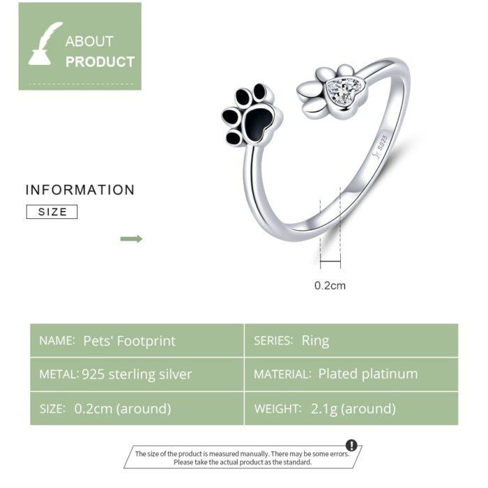 Paw Print Ring Adjustable Size