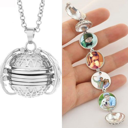 Photo Locket Necklace Picture Pendant