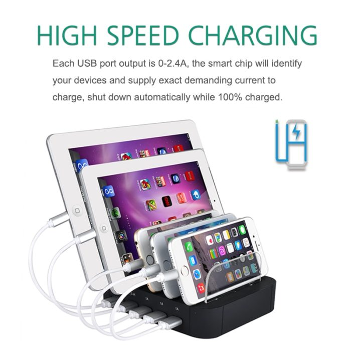 Charging Station Organizer Phone Stand
