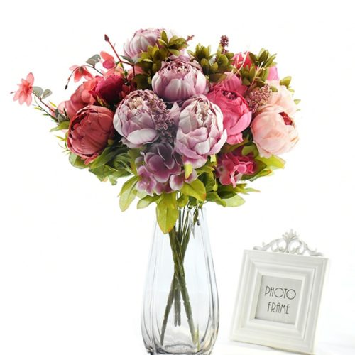 Silk Peonies Decorative Flowers 13Heads/Bunch