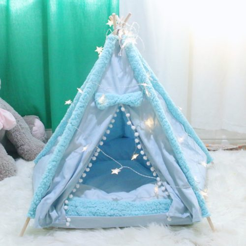 Pet Teepee Foldable Pet Bed House