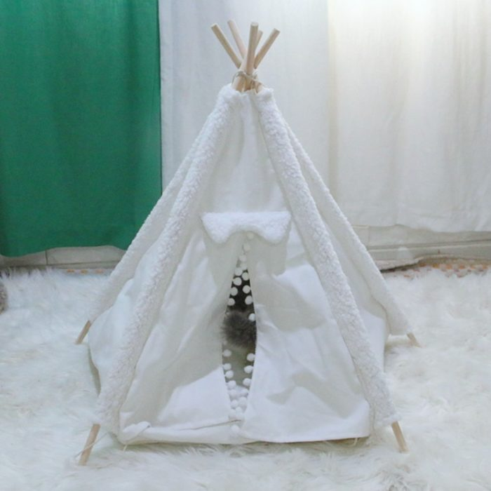 Pet Teepee Foldable Pet Bed House