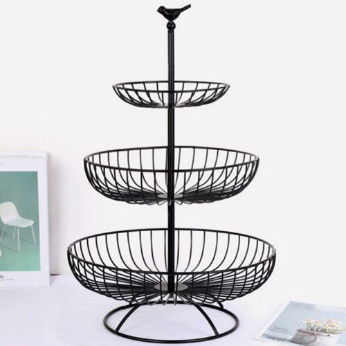3 Tier Fruit Basket Metal Stand