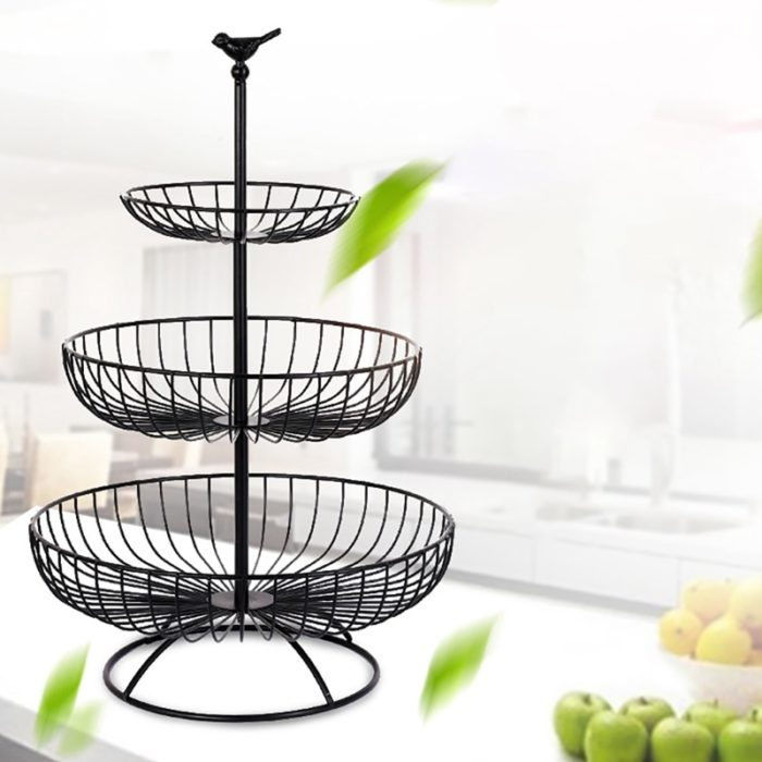 3 Tier Fruit Basket Metal Stand
