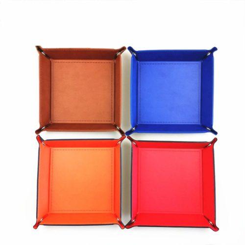 Valet Tray PU Leather Box