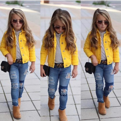 Kids Jacket Girls Fashionwear