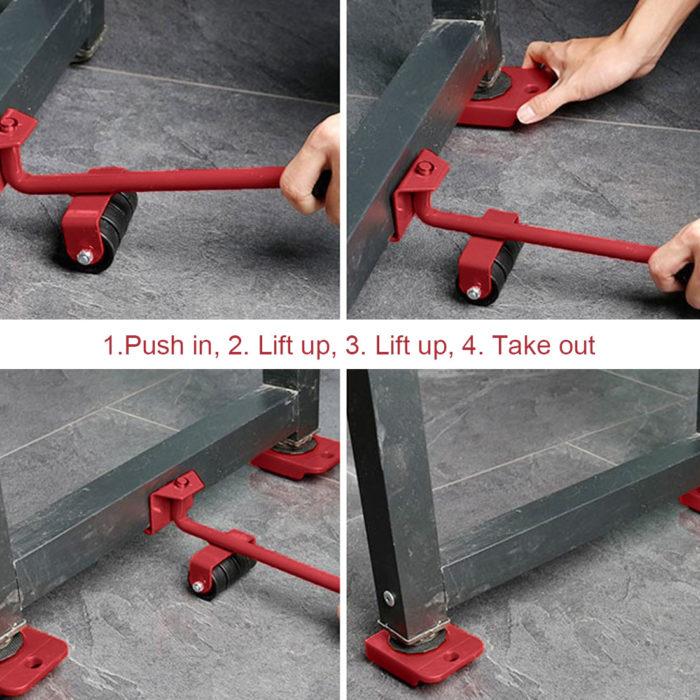 Furniture Moving Wheels Lifter Set