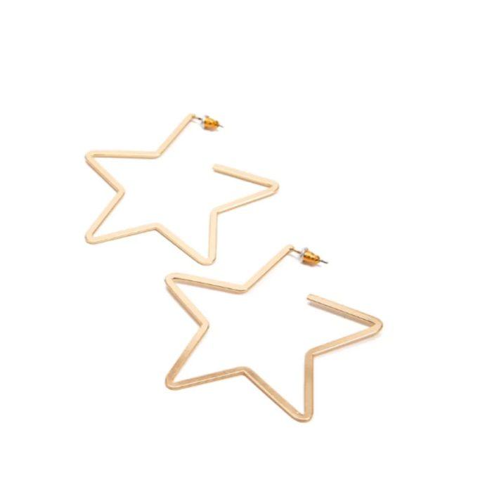 Star Hoop Earrings Fashion Accessory
