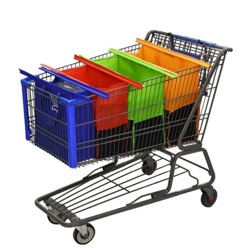 Shopping Cart Bags Reusable Grocery Baskets