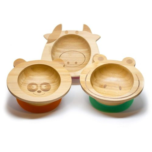 Bamboo Baby Plate Feeding Bowl