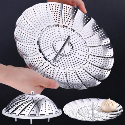 Steamer Rack Folding Strainer Tray