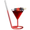 Cocktail Glass Elegant Spiral Straw