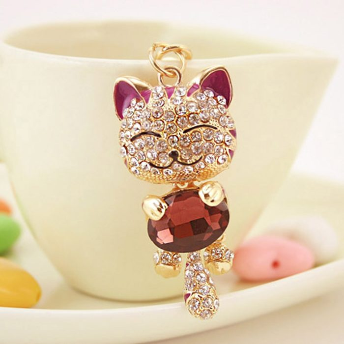 Cat Keychain Smiling Cat Keyring